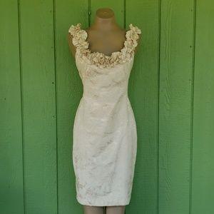 Maggie London Brocade Cocktail Dress, 12